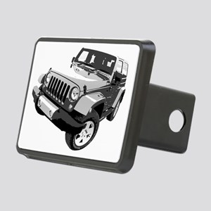 Wrangler 01 Rectangular Hitch Cover